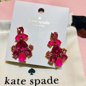 NWT KATE SPADE *STUNNING!!* Fuchsia Drop Earrings
